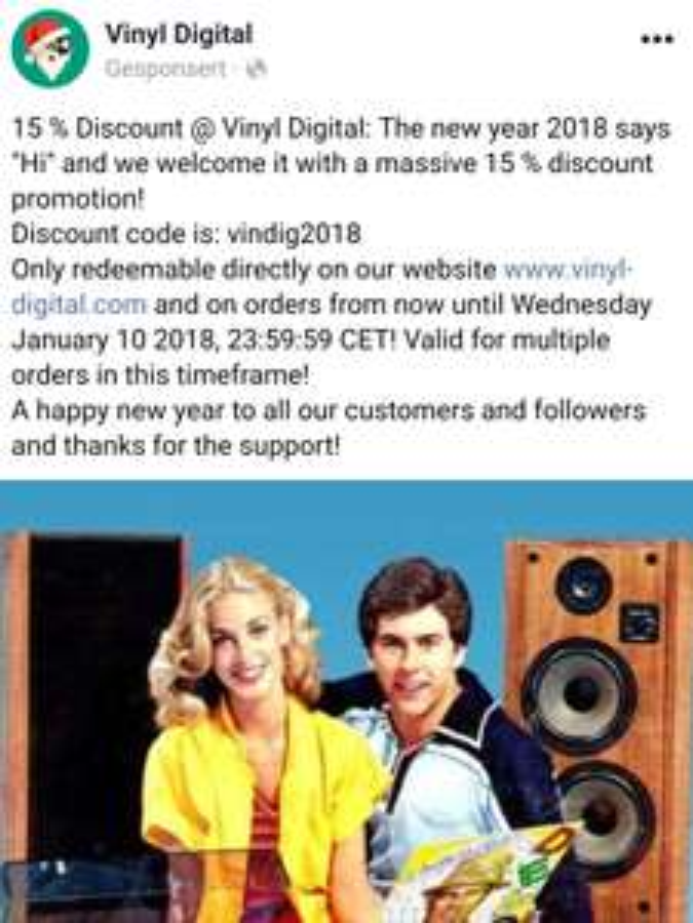 15% auf Alles bei Vinyl-Digital.com