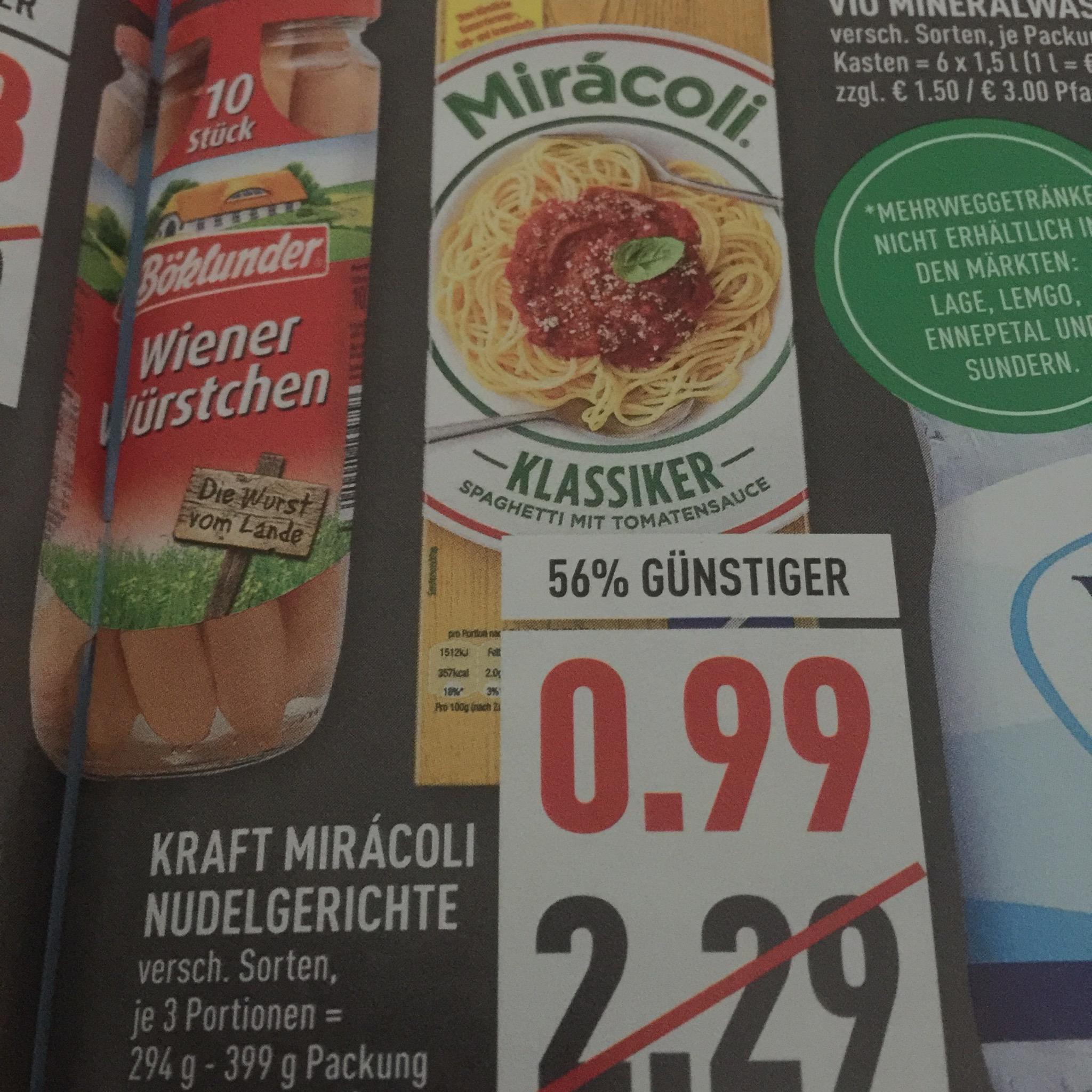 [Marktkauf] Miracoli nur 99 Cent - Freebie möglich (Lokal)