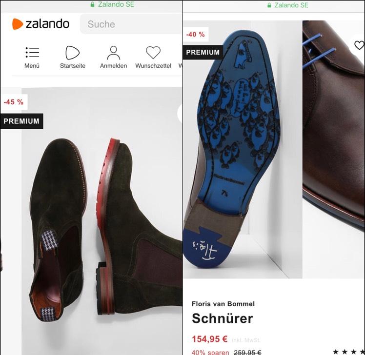 Bis zu 60% auf Floris Van Bommel Artikel (Schuhe, Gürtel) auf zalando.de
