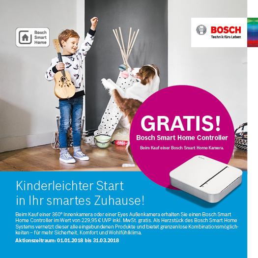 Bei Kauf Bosch Smart Home Kamera, der Bosch Smart Home Controller geschenkt