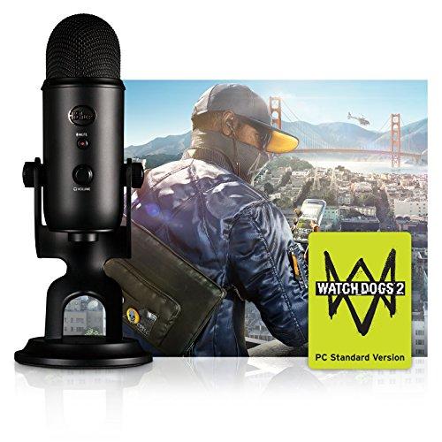 Blue Blackout Yeti USB Großmembran-Mikrofon + Watch Dogs 2 Bundle