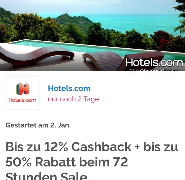 [Shoop][Hotels.com] Bis zu 12% Cashback + bis zu 50% Rabatt