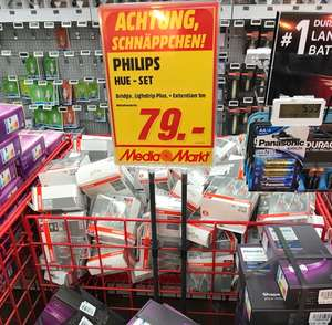 Media Markt Dresden ElbePark: Philips PL24129 HUE LED LightStrip Plus 2m Starter Set + Bridge + 1x 1m Erweiterung