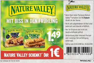 Wasgau - 1,00 € Coupon auf Nature Valley