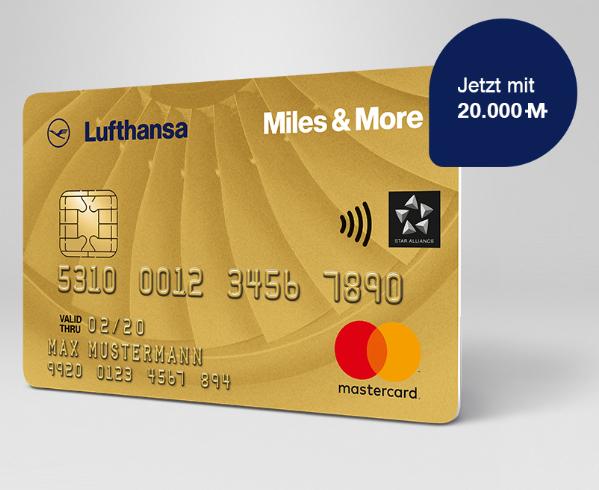 Miles & More Credit Card Gold World Plus inklusive 20.000 Prämienmeilen + 110 € Cashback!