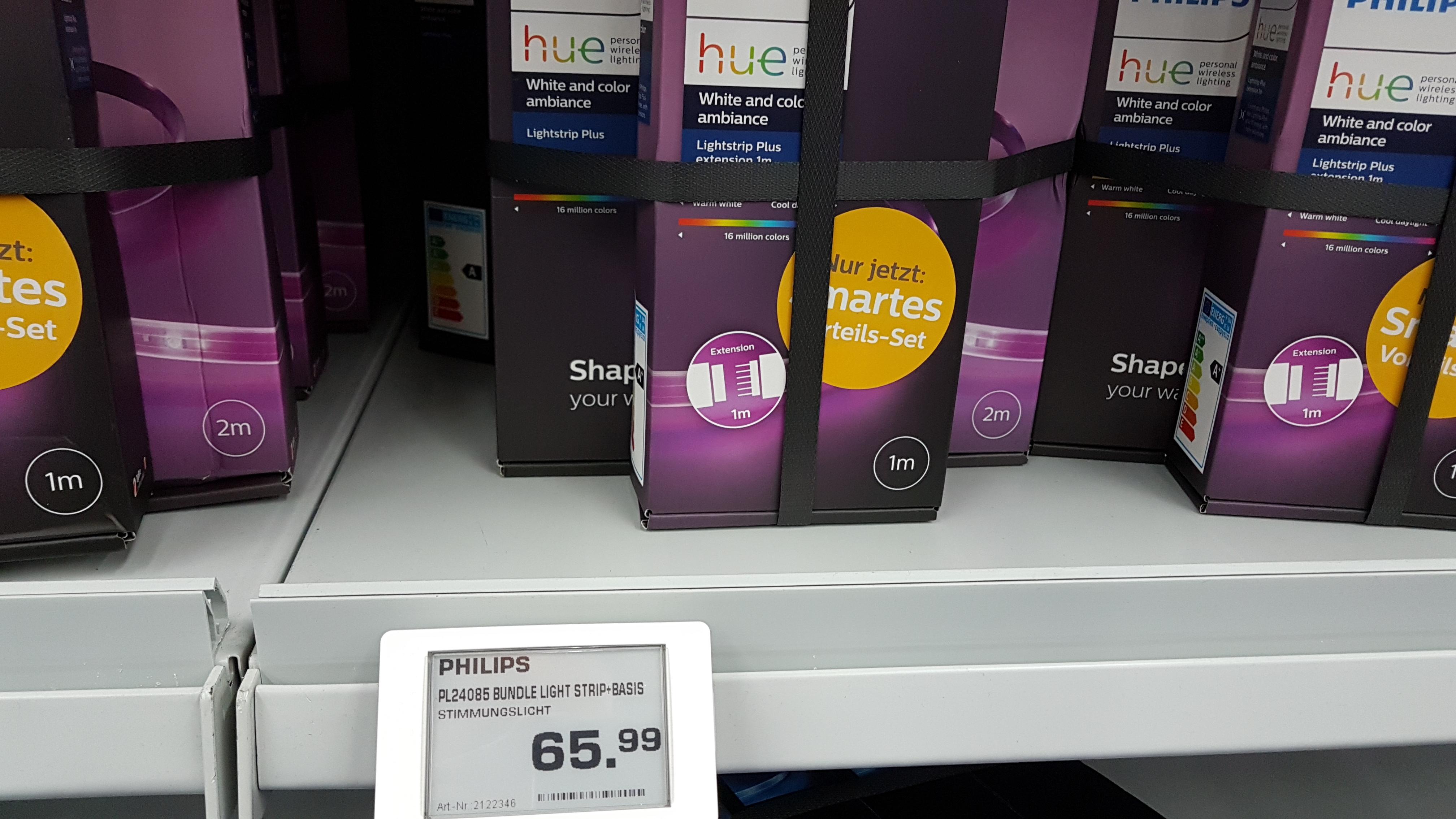 Saturn (Lokal?) - Philips Hue LightStrip Plus 2m Basis + 1m Erweiterung