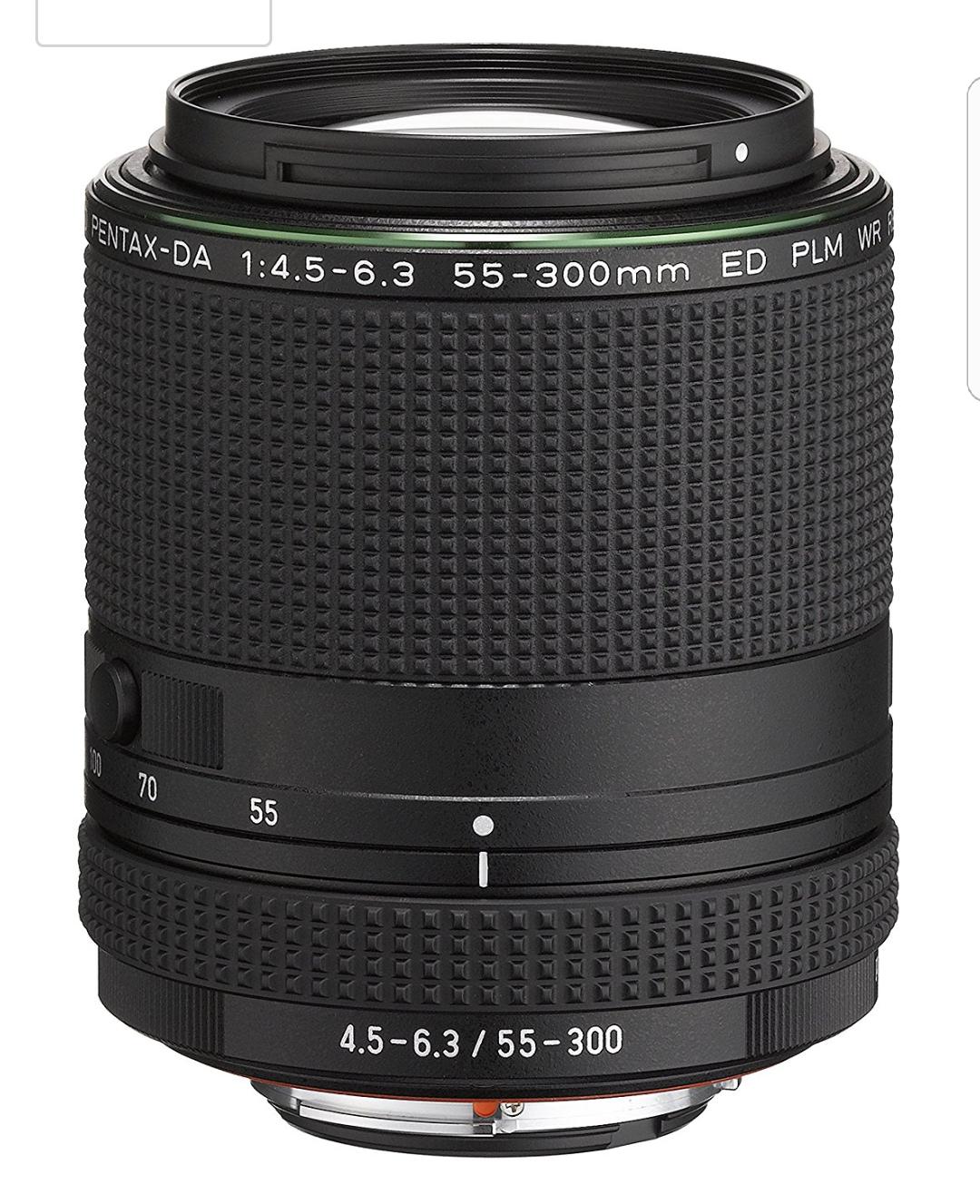 [Amazon] Pentax HD DA 55-300mm F4.5-6.3 ED PLM WR RE Objektiv schwarz