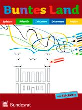Buntes Land. Mal- und Spielbuch für Kinder im Grundschulalter