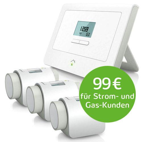 [innogy] SmartHome Paket Wärme mit 4. Heizkörperthermostat gratis
