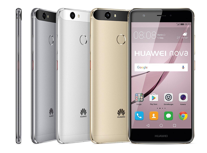 Huawei Nova LTE (5'' FHD IPS, LTE + Dual Sim, Snapdragon 625 Octacore, 3GB RAM, 32GB eMMC, 12MP f/2.2 Kamera, 3020mAh, Metall-Gehäuse, USB Typ-C, Android 7) für 183,38 € (Amazon.fr)