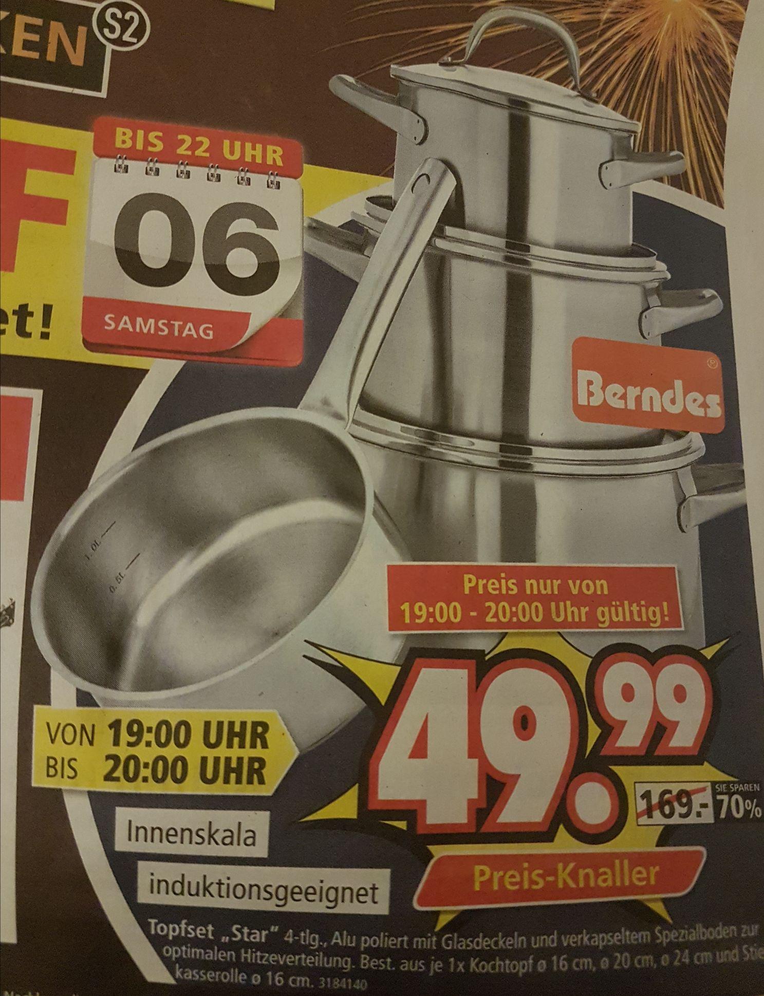 (SEGMÜLLER WEITERSTADT)Topfset Star von Berndes 4 tlg. Induktionsgeeignet 06.01.18 19-20 UHR