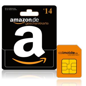 Callmobile SIM Karte + 14€ Amazon Gutschein