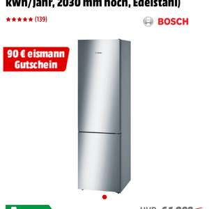 bosch k hlgefrierkombination kgn39vi45 a zzgl 70 mediamarkt coupon. Black Bedroom Furniture Sets. Home Design Ideas