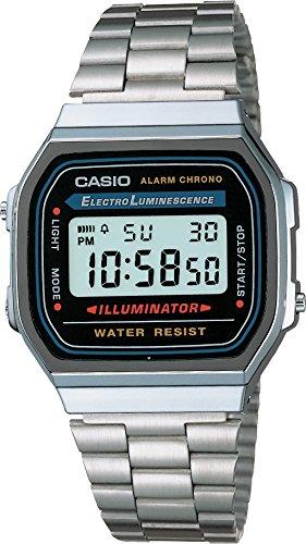 Casio Unisex Digital mit Edelstahl Armbanduhr