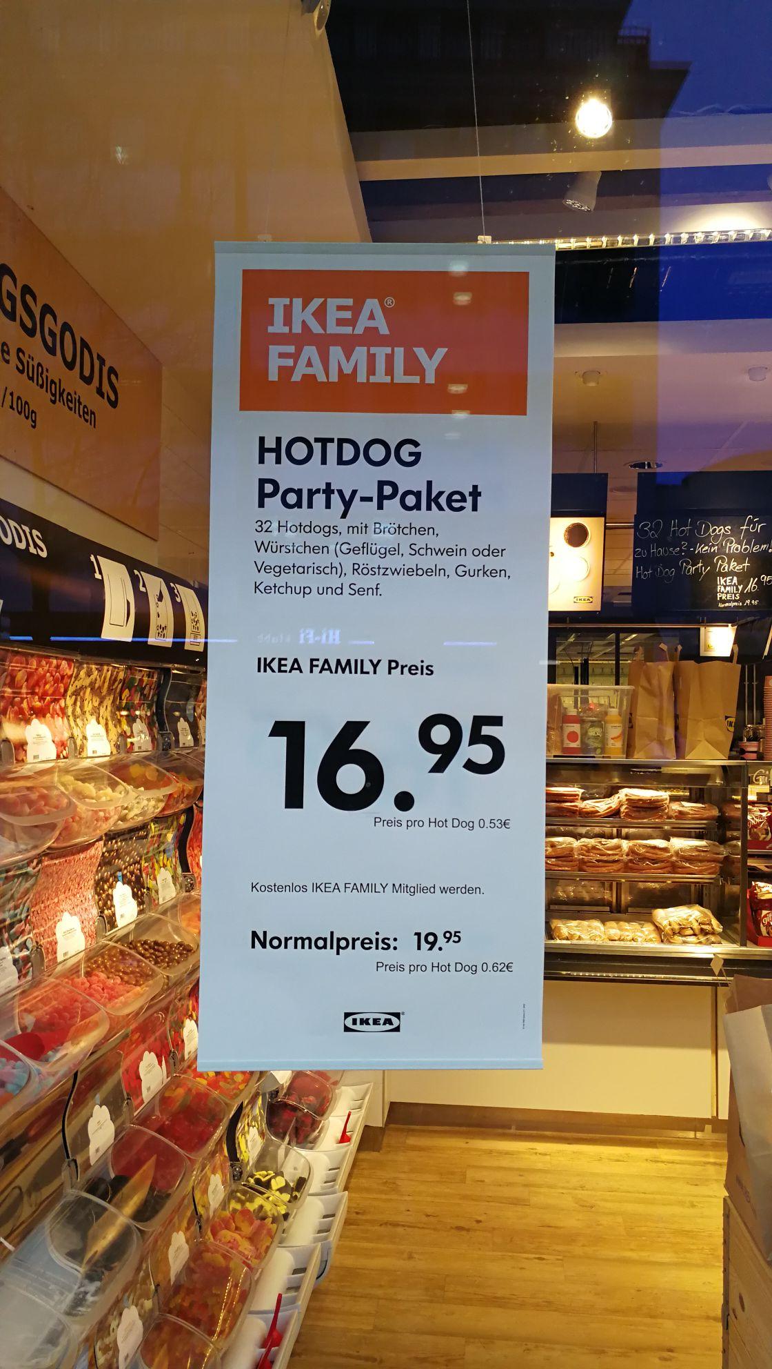 IKEA Hot Dog Paket mit IKEA Family Karte (Hamburg Altona)