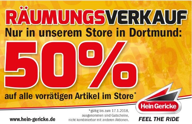 (Hein Gericke-Dortmund) Räumungsverkauf 50% auf alle......