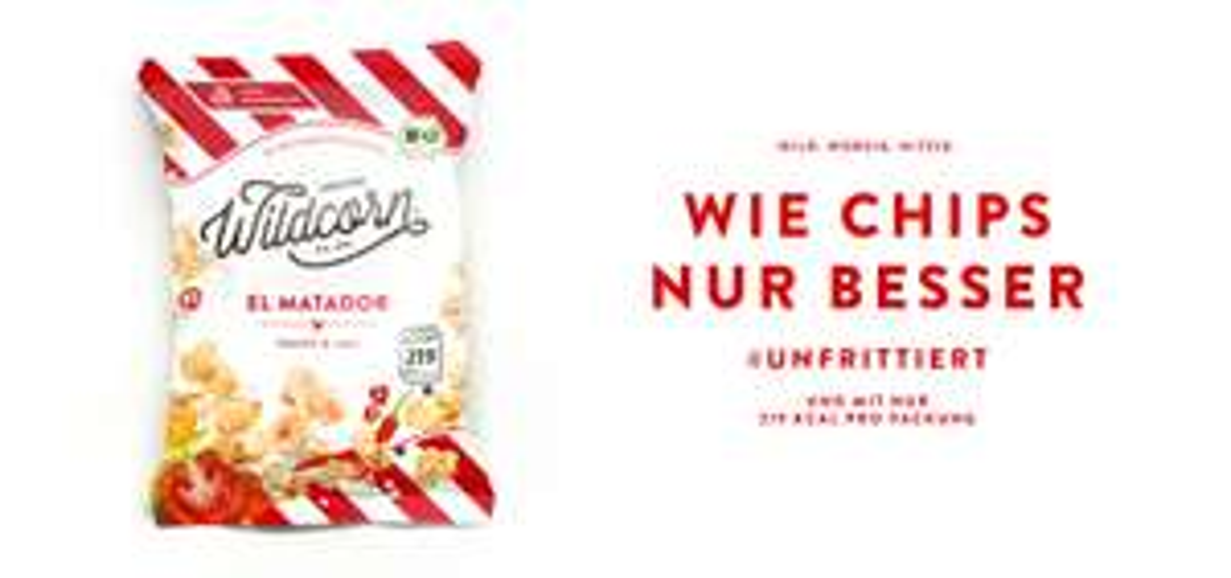 "20% Rabatt auf Wildcorn - ""Fast"" fettfreies Popcorn"