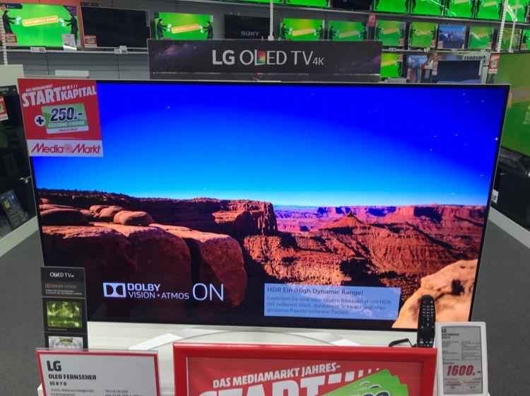 Lokal Leipzig MM Höfe am Brühl LG B7D 55'' OLED 4K Fernseher/ TV