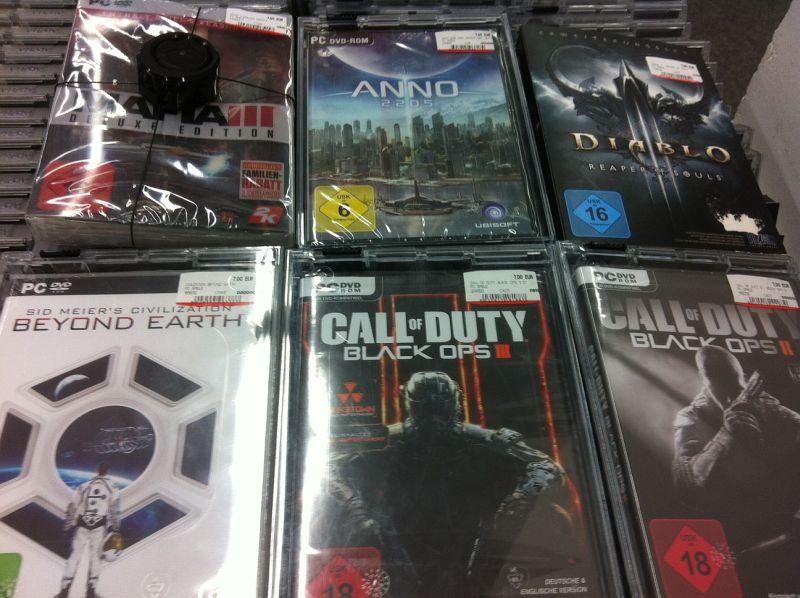 [Lokal] Media Markt München: Diverse PC-Spiele je 7€, u.a. Black Ops III, Mafia III Deluxe, Anno 2205, Diablo 3, ...