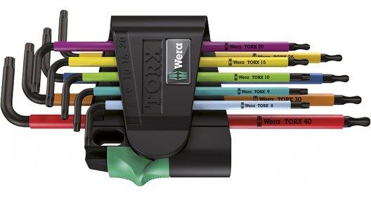 Wera Winkelschlüsselsatz 967 SPKL/9 TORX® BO Multicolour, BlackLaser