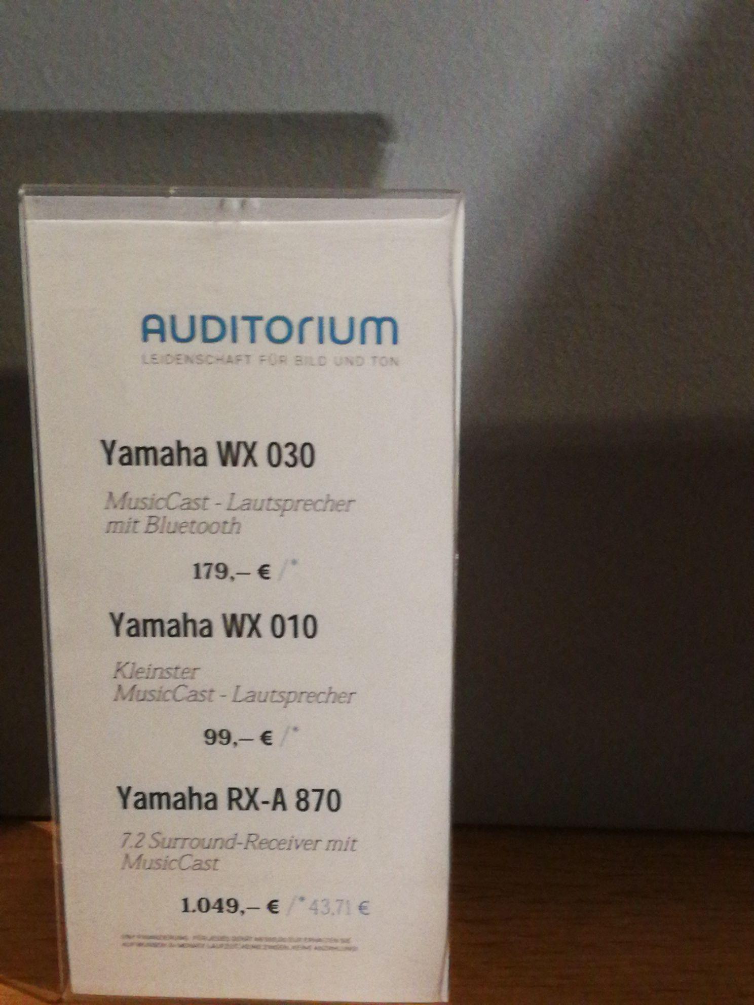 [Lokal Münster Auditorium] YAMAHA WX-010 Musiccast Lautsprecher schwarz
