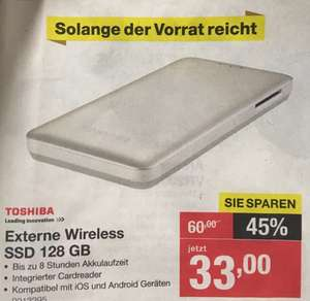 Toshiba Canvio AeroMobile SSD 128GB [offline]