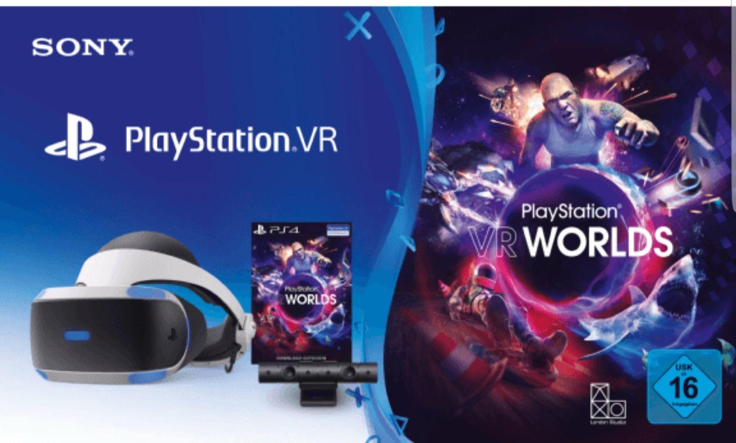 Media Markt (bis 05.01 9 Uhr) SONY PlayStation VR V2 + Camera + VR Worlds Voucher 349.99 Euro statt 399 Euro