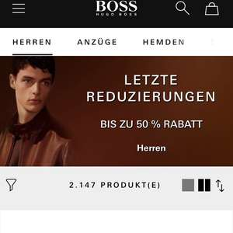 Hugo Boss bis zu 50% Rabatt