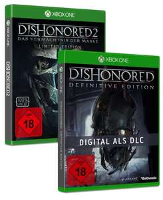 Dishonored 2: Das Vermächtnis der Maske Limited Edition (inkl. Dishonored Definitive Edition) (Xbox One & PS4) für je13,99€ (GameStop)