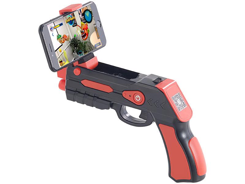 Callstel (Pearl.de) Augmented-Reality AR-Pistole, Bluetooth