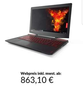 "Lenovo Legion Y720-15IKB 15,6"" Full HD Gaming Notebook GTX 1060 6gb Intel Core i5-7300HQ 8GB RAM 1000GB HDD"