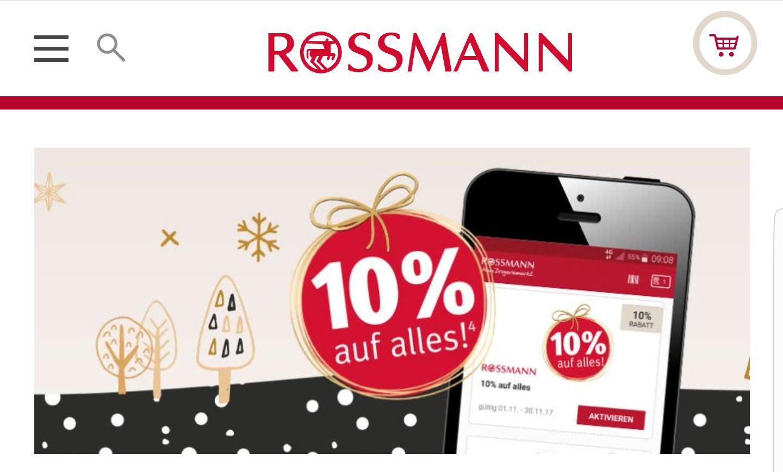 10% auf alles bei Rossmann/Müller