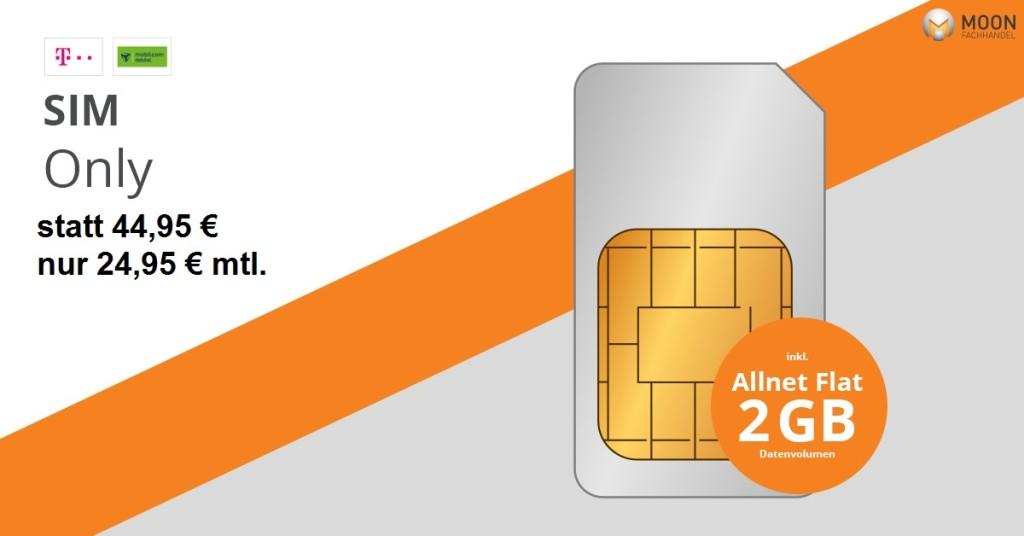 Telekom Magenta Mobil (Sim only) für mtl. 24,95€ statt 44,95€ zzgl. einmaliger Anschlussgebühr: