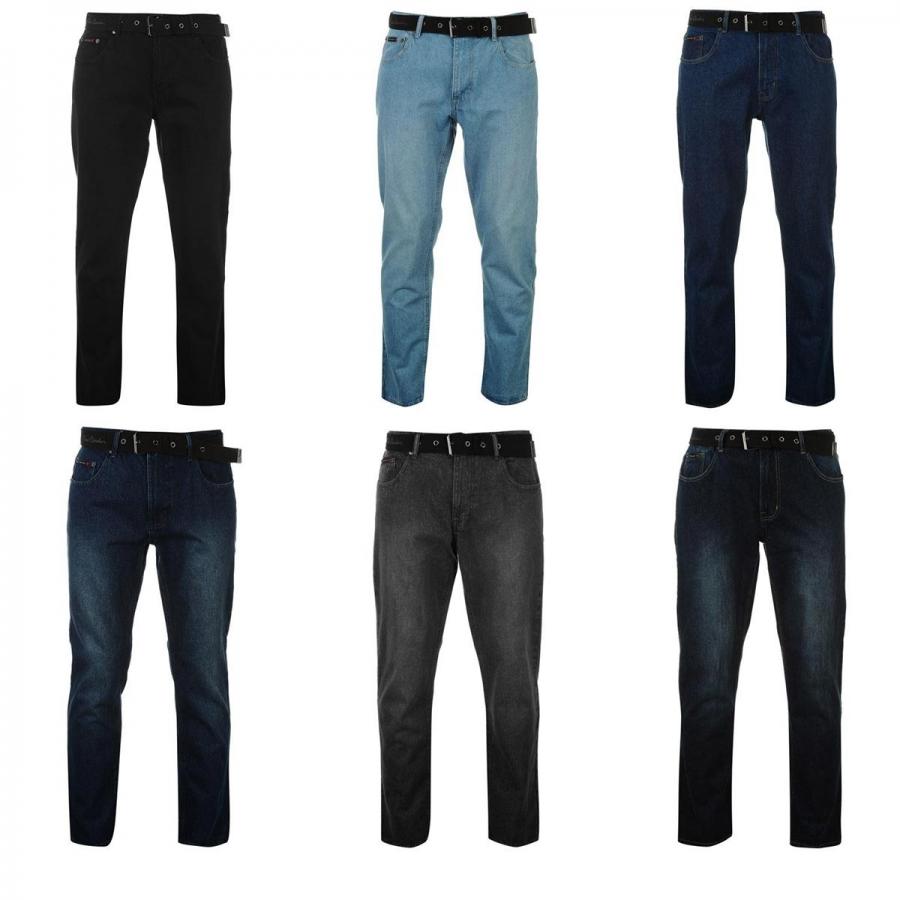 PIERRE CARDIN Jeans mit Gürtel 100% Baumwolle Herrenhose in 6 Farben