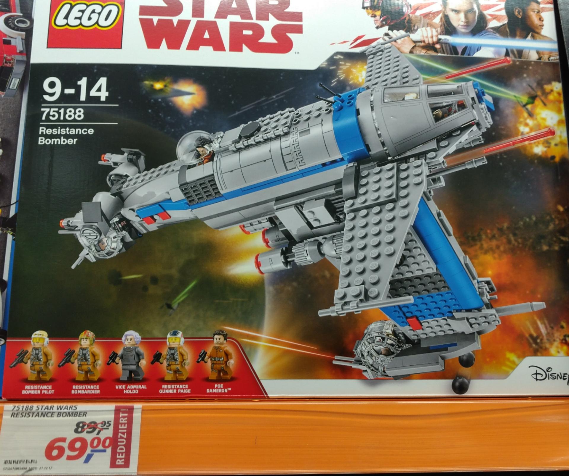 LEGO Star Wars Resistance Bomber 75188 und Lego Star Wars 75187 BB-8 [Real Berlin-Neukölln]