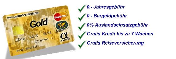 Advanzia Gebührenfrei Mastercard GOLD   2 x 40€ KwK Werber Prämie   NFC kontaktlos   Kein Auslandseinsatzentgelt   5% auf Reisen und Mietwagen