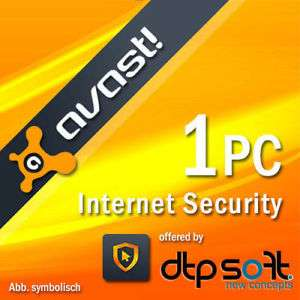 Avast Internet Security 2018 1 PC VOLLVERSION 1 Jahr