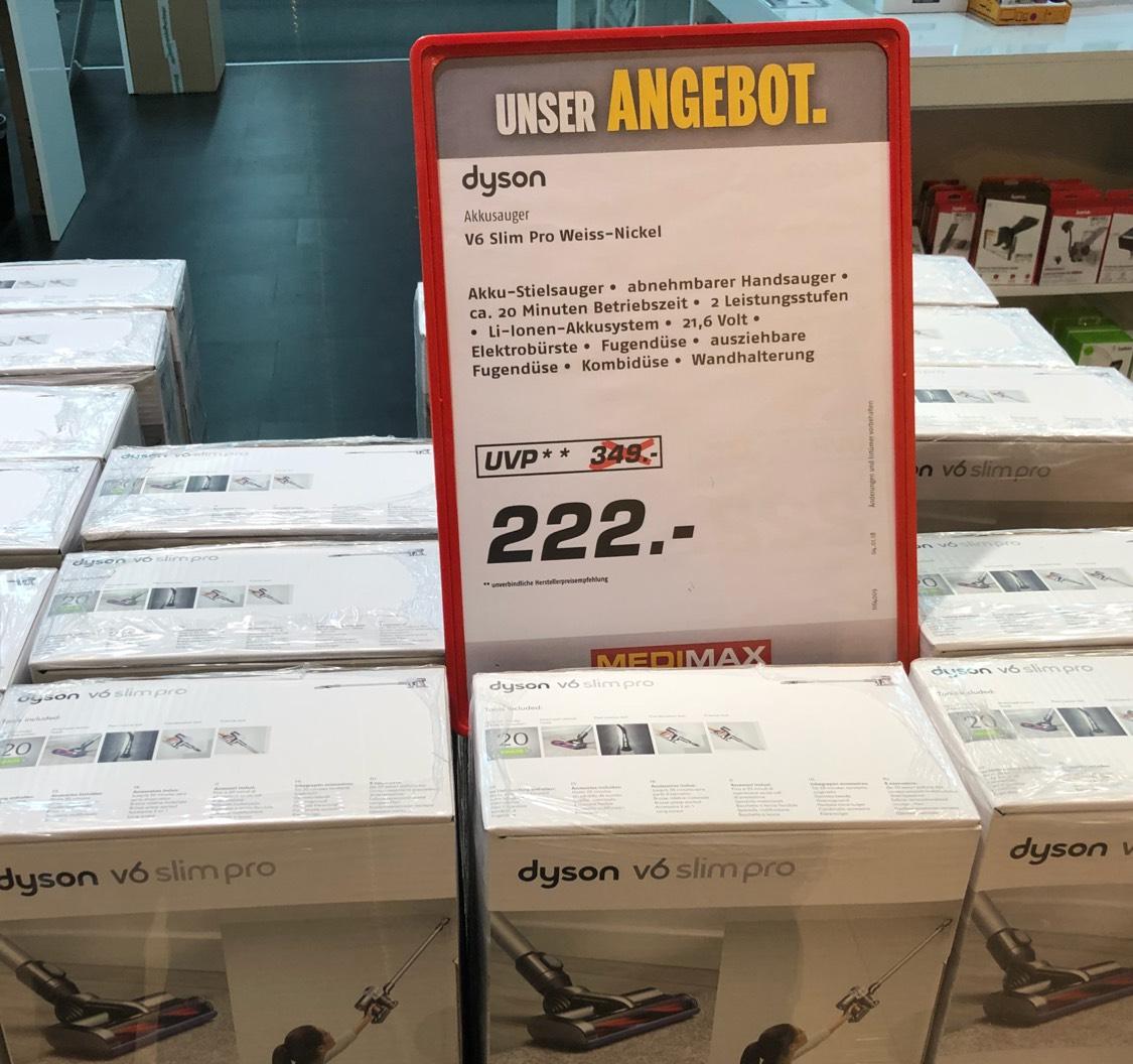 (Lokal Hamburg) Dyson V6 Slim Pro weiß