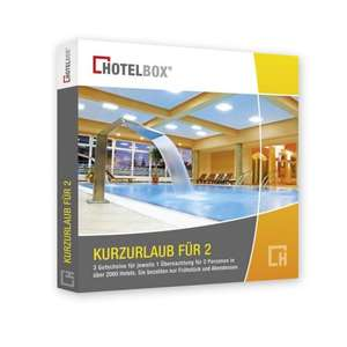 """Hotelbox """"Kurzurlaub für zwei"""" 3Übernachtungen für 2 Personen * 20€ günstiger"""