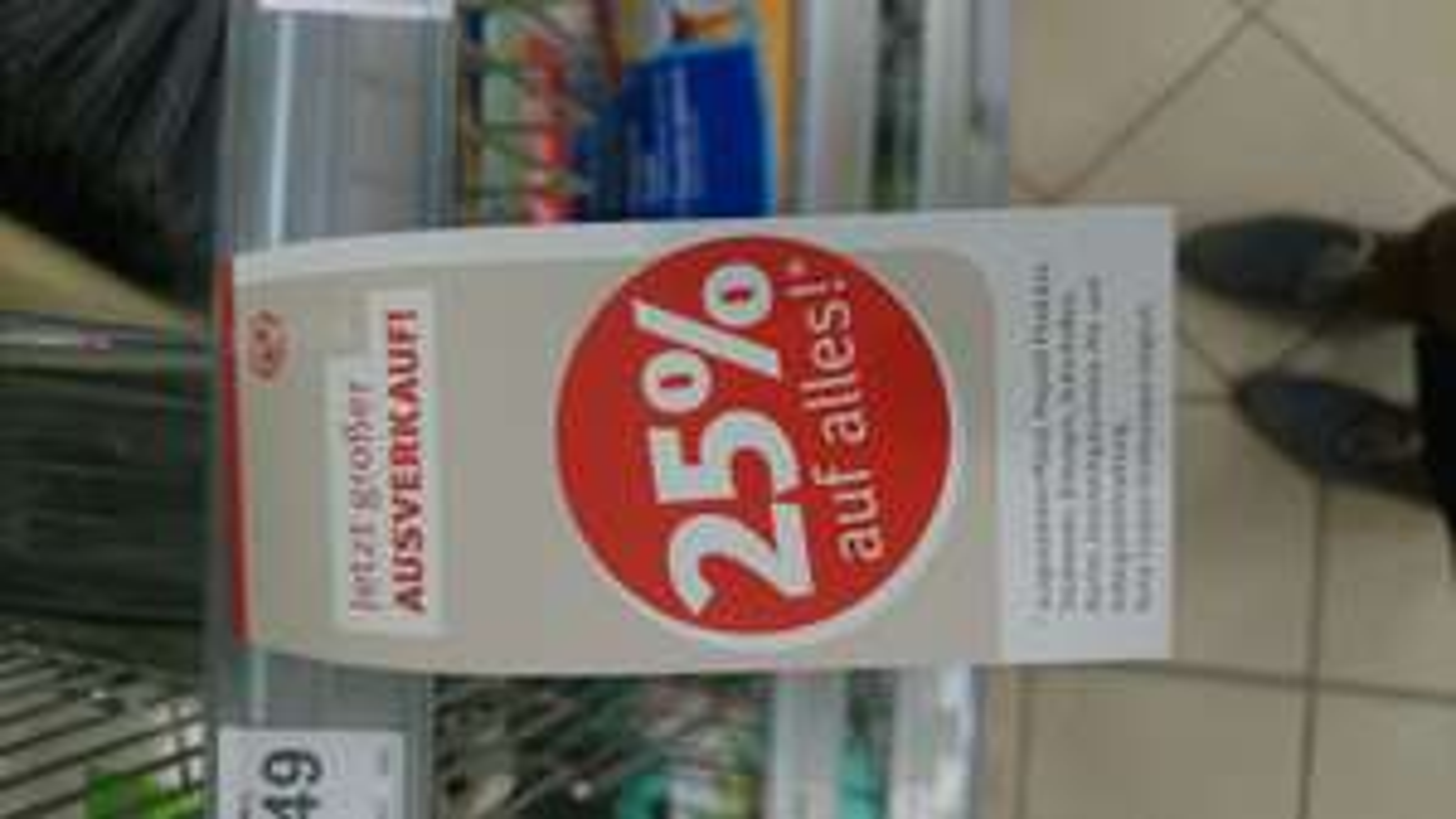 25 % auf fast alles bei Rossman Steinfurt