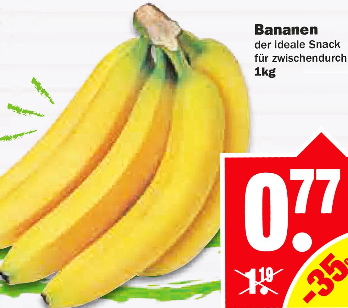 Bananen 1 kg für nur 77 Cent [NP Discount]