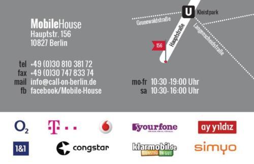 [Lokal Berlin] Mobile House: ALLNET FLAT + 3GB LTE + SMS FLAT Effektiv 8,16€ / Monat