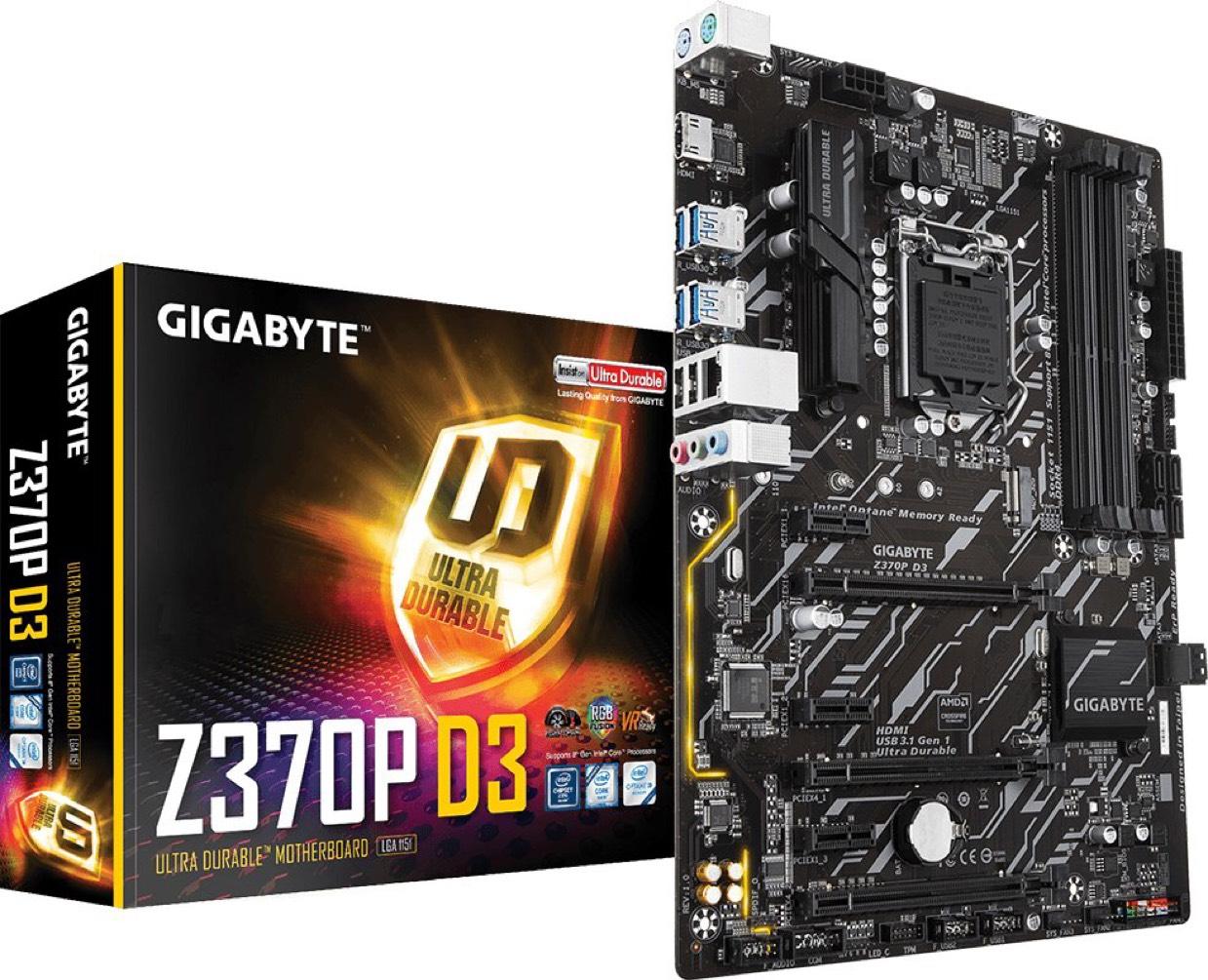 GigaByte Z370P D3 Coffee Lake Mainboard Sockel 1151 4xDDR4 nur 95€