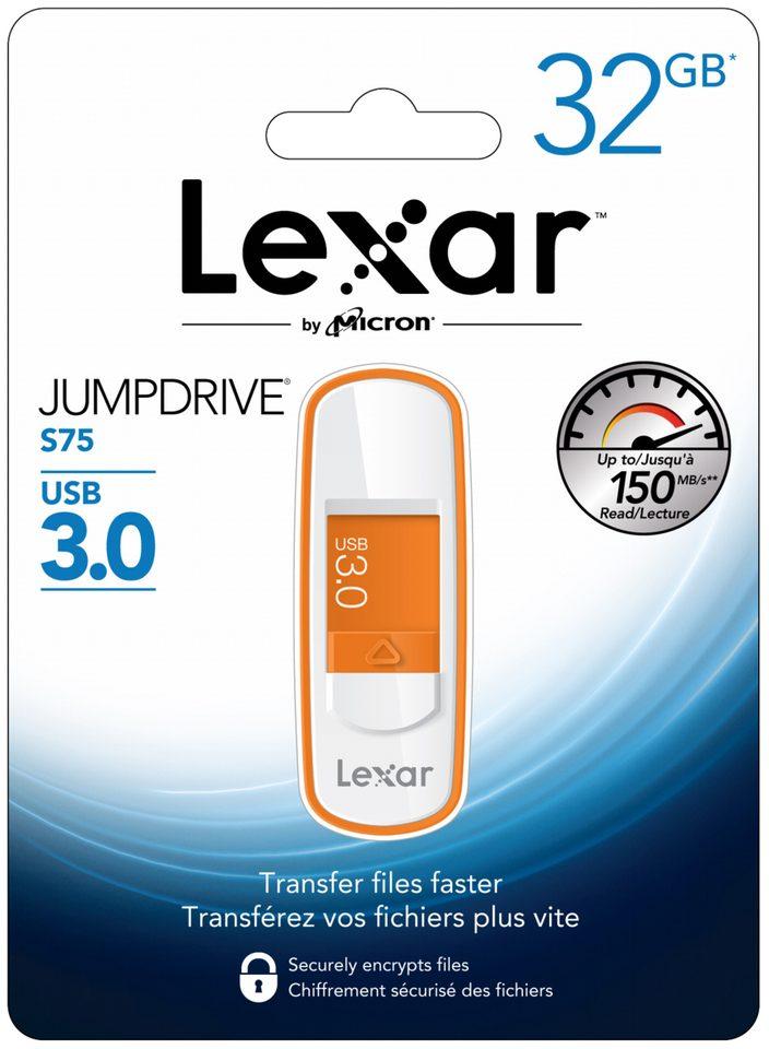 LEXAR JumpDrive S75, USB-Stick, USB 3.0, USB 3.0, 32 GB für 8€ bei Saturn