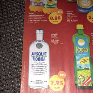 Absolut Vodka 0,5l bei Penny am Framstag