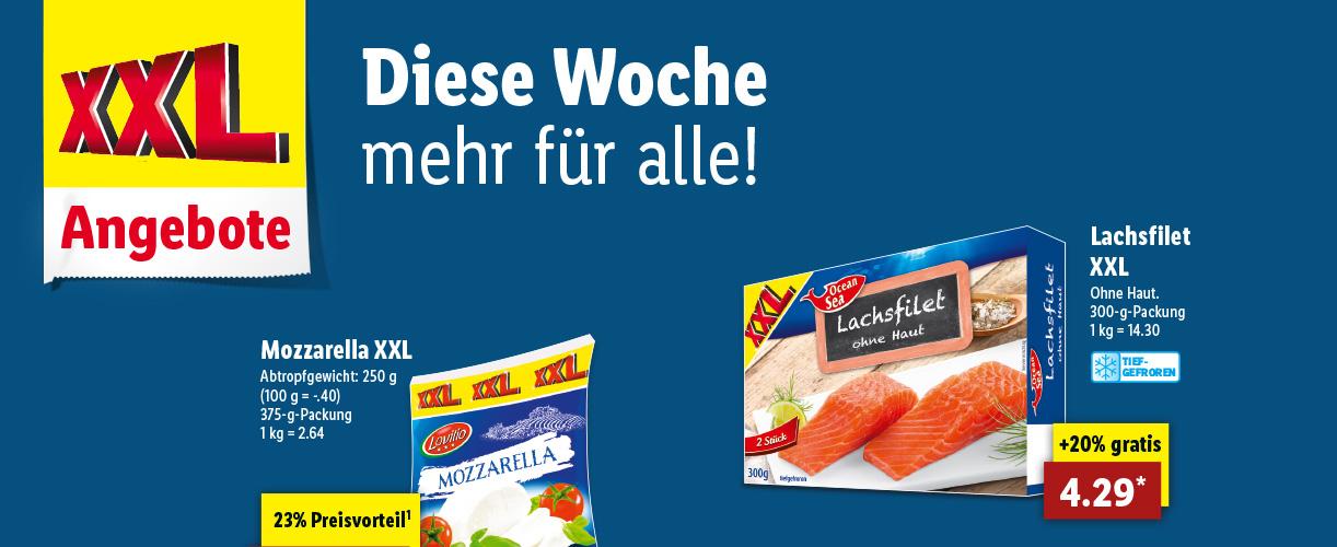 Lidl XXL Woche ab Donnerstag  den 11.01.2018 / Zum Beispiel *Wiener, 20% Gratis*