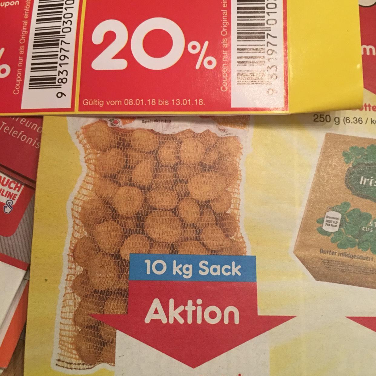 10 KG Kartoffeln für 1,78 € bei Netto Marken Discount nur am 13.01.