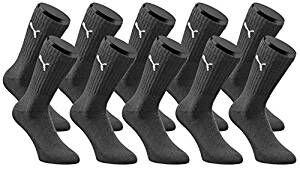 Puma Sportsocken 10 Paar für 16,99 € schwarz, weiß oder grau