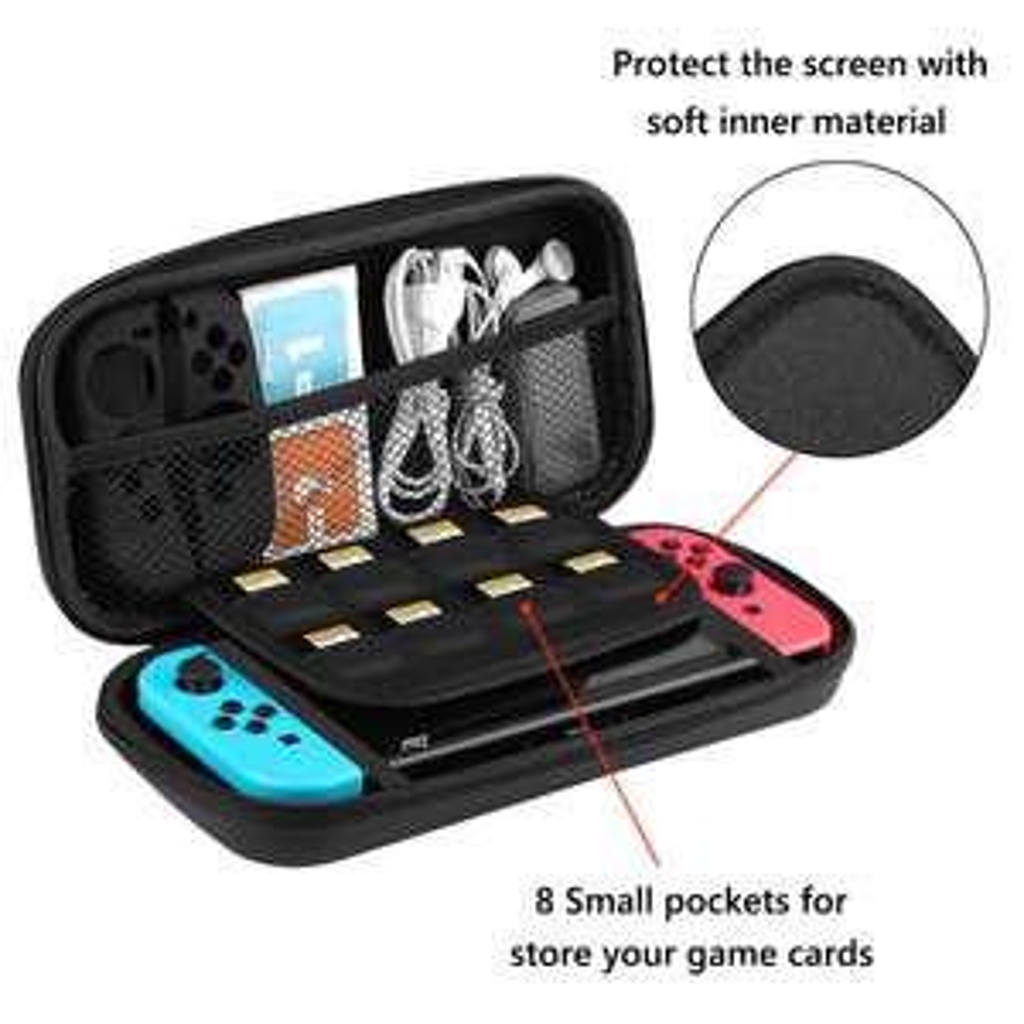 [Amazon Prime] Taotree Nintendo Switch EVA Hart Case mit Netz im Deckel in rot