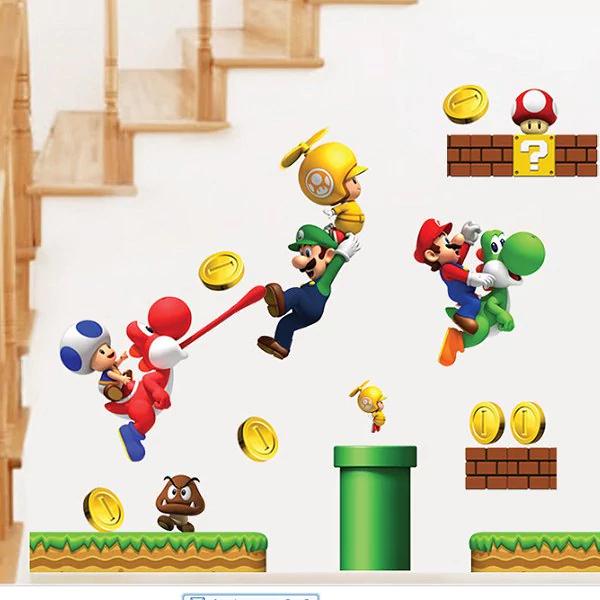 *Geht wieder* Wandsticker Super Mario - 1 Set, 30 x 60cm